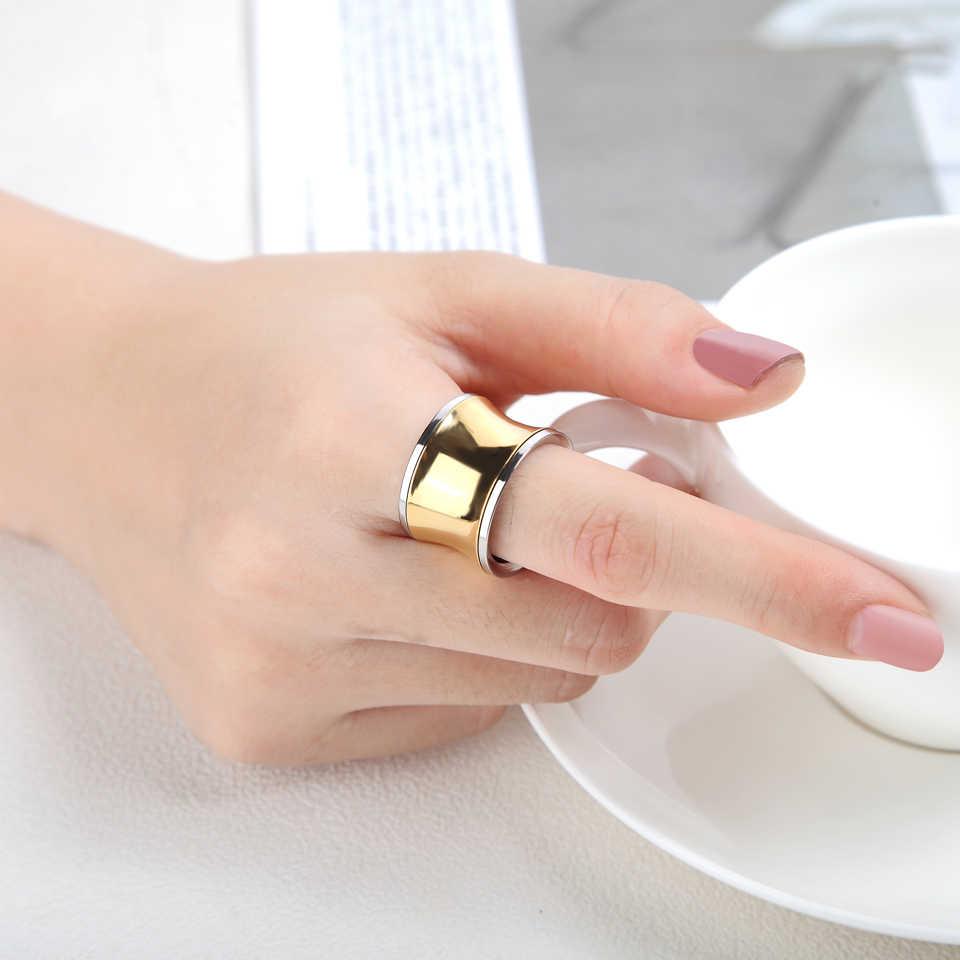 การออกแบบคลาสสิกทองเงินสแตนเลสสตีลแหวนสำหรับบุรุษและสตรี Top คุณภาพแหวนเครื่องประดับงานแต่งงานที่ดีที่สุดของขวัญ