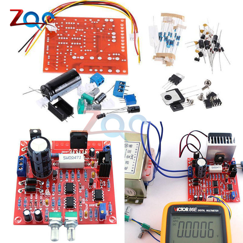 0-30V 2mA-3A Continuously Adjustable DC Regulated Voltage Regulators Power Supply DIY Kit for School Education Lab For Arduino craft