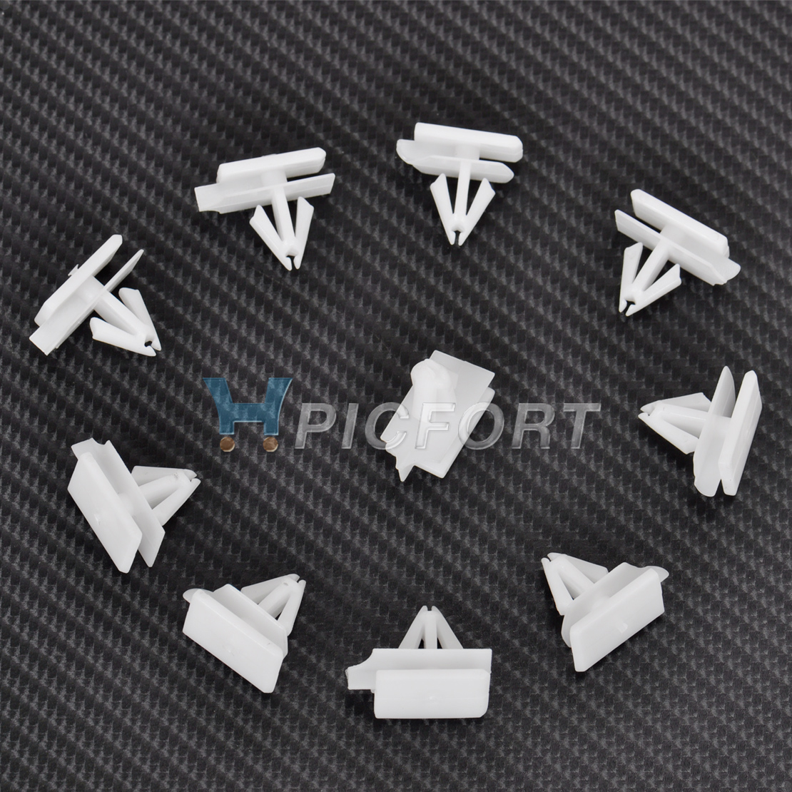 10Pcs Fastener Fender Rocker Panel Moulding Clips For Pontiac