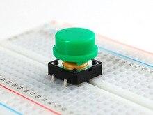 100 juegos/lote 12x12x12MM o mron B3F colorido redondo momentáneo surtido interruptor de botón táctil
