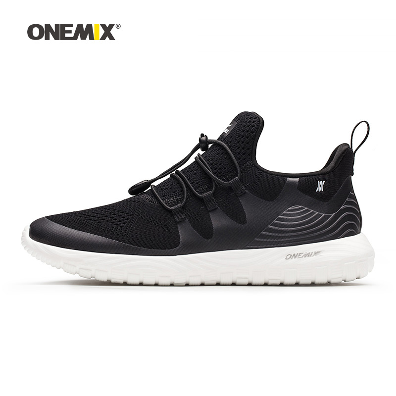 Onemix Men Running Shoes for Women Black Mesh Air Breathable Designer Gym Jogging Sneakers Outdoor Sport walking Tennis Trainers onemix woman running shoes for women white mesh air breathable designer jogging sneakers outdoor sport walking tennis trainers