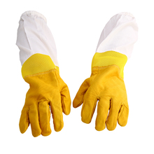 New Beekeeping Protective Gloves XL Goatskin Bee Keeping with Vented Beekeeper Long Sleeves