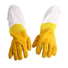 New Beekeeping Protective Gloves XL Goatskin Bee Keeping with Vented Beekeeper Long Sleeves