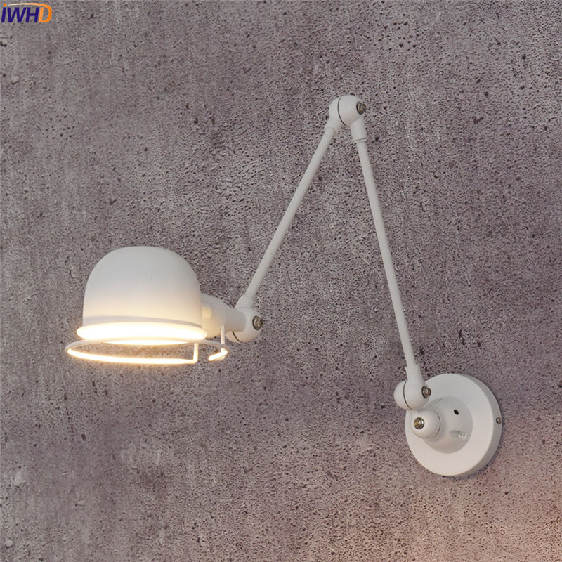 IWHD Modern Nordic Wall Lamp Retro Edison LED Wall Light Fixtures Home Lighting Iron Adjustable Arm Wandlamp RH Bathroom LightIWHD Modern Nordic Wall Lamp Retro Edison LED Wall Light Fixtures Home Lighting Iron Adjustable Arm Wandlamp RH Bathroom Light