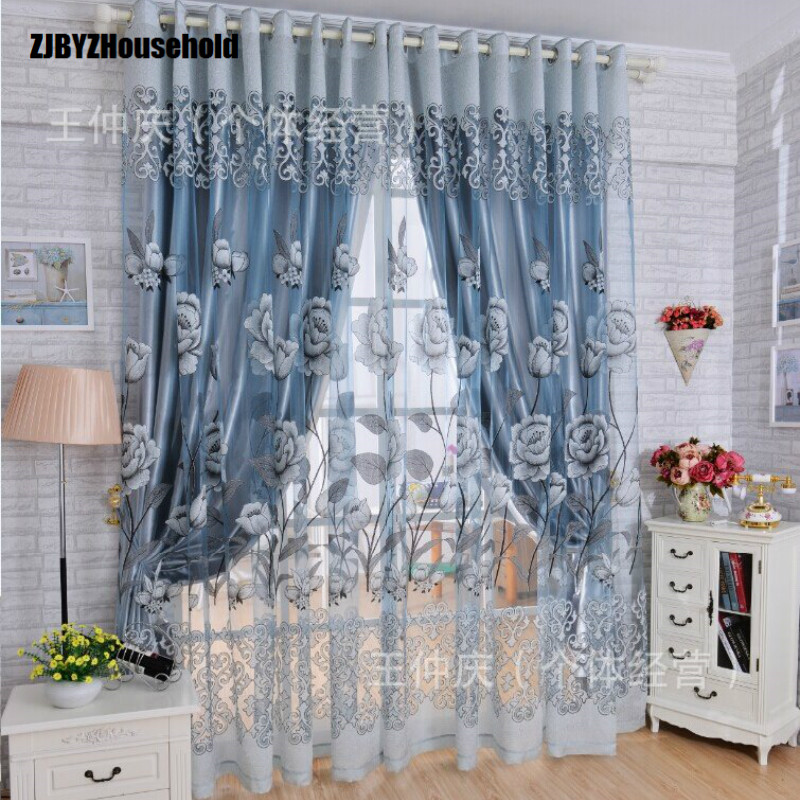 Curtains For Dining Living Bedroom Room Tulle Light Hollow Carved Burnt Cloth Customized Screens Blackout Curtain European Style