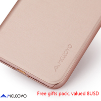 Rose Gold Meleovo Brand Leather Case For IPhone X Luxury Slim Flip Phone Cases For Iphone