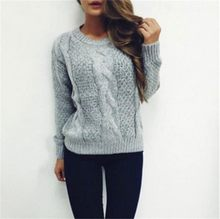 sweaters, women's bottom sweaters, Korean version of loose and short round-necked Pullover knitted shirts and jackets(China)