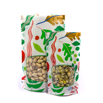 free dhl 1000Pcs/lot Flower Print Zip Lock Bags Stand Up and not stand up Reusable Plastic Pouch Zipper Seal Food Storage Bags