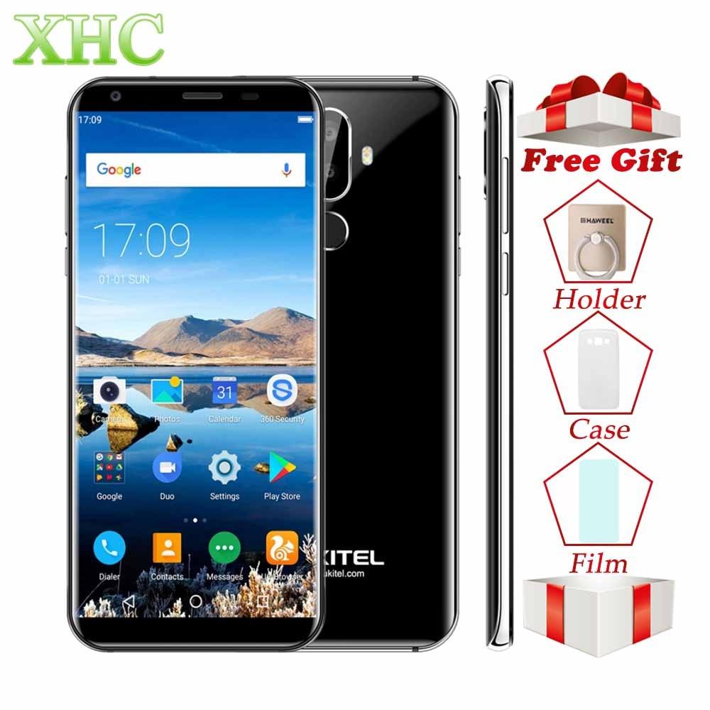 Oukitel K5 18:9 Tela de 5.7 ''Android 7.0 gb de RAM gb ROM 16 2 MTK6737T Smartphone Quad Core 13MP Dual SIM Telefones Móveis de Impressão Digital