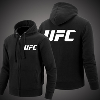 MIDUO 2018 Spring and Autumn MMA UFC Clothes Zipper Hooded Men Fashion Hooded Fleece Cardigan Hoodies Casual Coat Tops
