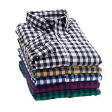 Новинка 2017 года Осень Марка Для Мужчин's Рубашки в клетку мужской теплая рубашка с длинными рукавами плюс Размеры молодежи офисные Бизнес Повседневная футболка Для мужчин