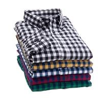 2017 Nieuwe Herfst Brand mannen Plaid Shirt Mannelijke Warme Lange Mouw Plus Size Jeugd Kantoor Business Casual Shirt mannen