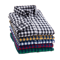 2016 Spring Plaid Shirt Male Long Sleeved Shirt Plus Size Youth Office Business Casual Shirt Men