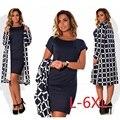 5XL 6XL большой 2017 весной и осенью новый dress black dress увеличить маленькие дамы одежда решетки groove Vestidos
