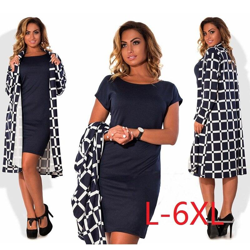 5xl 6xl de gran tamaño 2017 verano otoño dress abrigos grandes tamaño moda casua