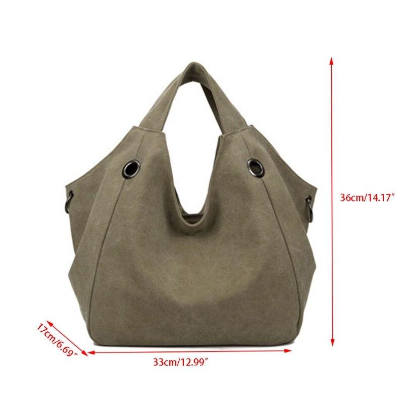THINKTHENDO Fashion Women Shoulder Bag Canvas Large Capacity Tote Handbag Purse Bags thinkthendo faux leather fashion women cross body tote purse handbag messenger shoulder bags