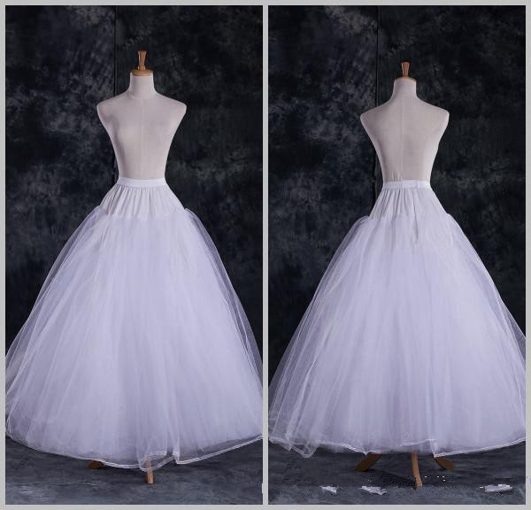 white Fashion Cheap A Line Tulle Bridal Petticoats Wedding Underskirt Crinolines Bridal Accessory