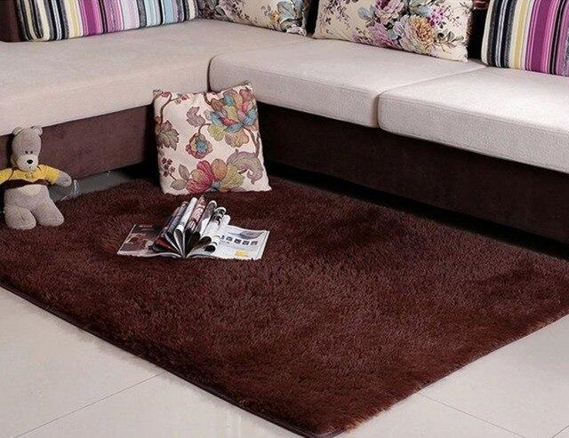 10 afmetingen lange pluche antislip zachte mat voor thuis salon slaapkamer woonkamer shaggy thicken tapijten deur