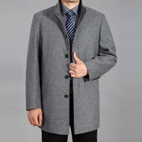 2020 New Winter Woolen Coat Men Wool Long Coat Men Overcoat Wool Pea coat Wool Jacket Autumn Mens Coats Winter Jacket Men Wool