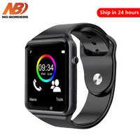 Bez granic Bluetooth A1 inteligentny zegarek sportowy zegarek wsparcie 2G SIM TF smartwatch z aparatem na telefon z systemem android PK GT08 DZ09 iwo 8 Y1