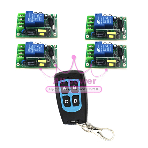 Free Shipping New 85V-250V 30A Four Keys Intelligent Remote Control for Smart Home SwitchFree Shipping New 85V-250V 30A Four Keys Intelligent Remote Control for Smart Home Switch