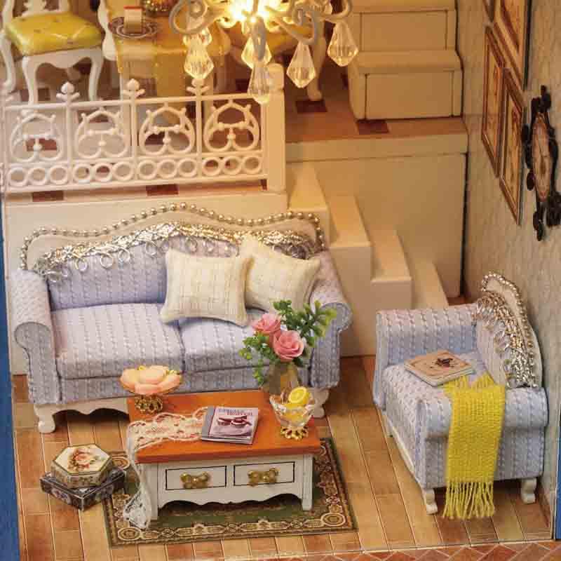 Linda casa de muñecas en miniatura Casa de muñecas DIY con muebles - Muñecas y accesorios - foto 2
