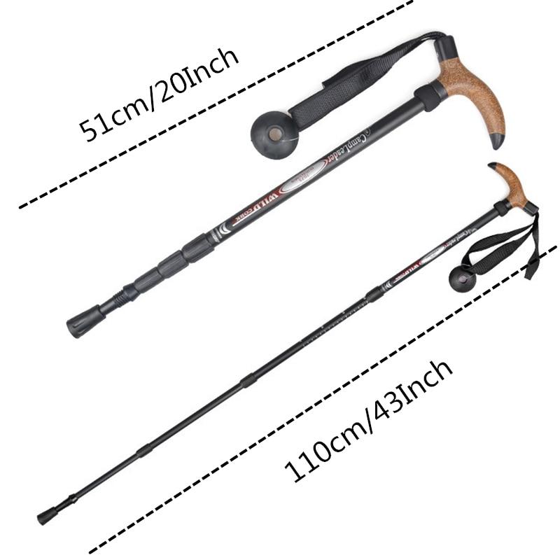 Image 2 - VILEAD Stable 50 110cm Cork Walking Sticks 7075 Aluminum Nordic Portable Ultra light Outdoor Travel Hiking Trekking Poles Cane-in Walking Sticks from Sports & Entertainment