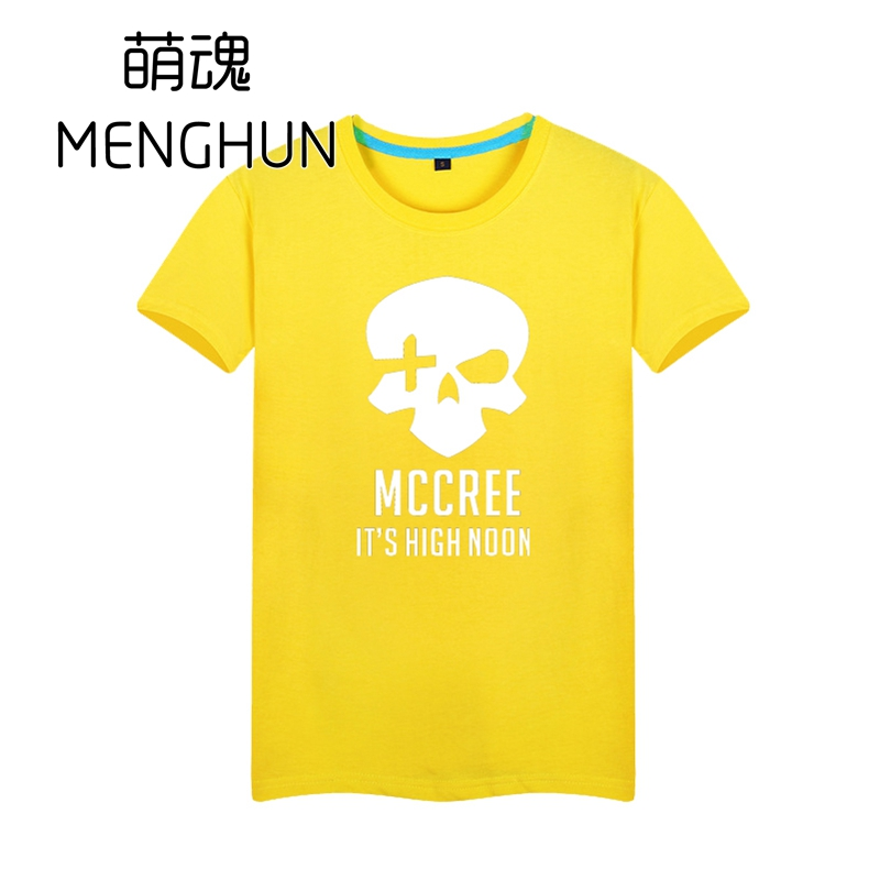 HOT watchman pioneer game t shirt MCCREE tee shirt for boyfriend various colors t shirt cotton game t shirt ac118 in T Shirts from Men 39 s Clothing