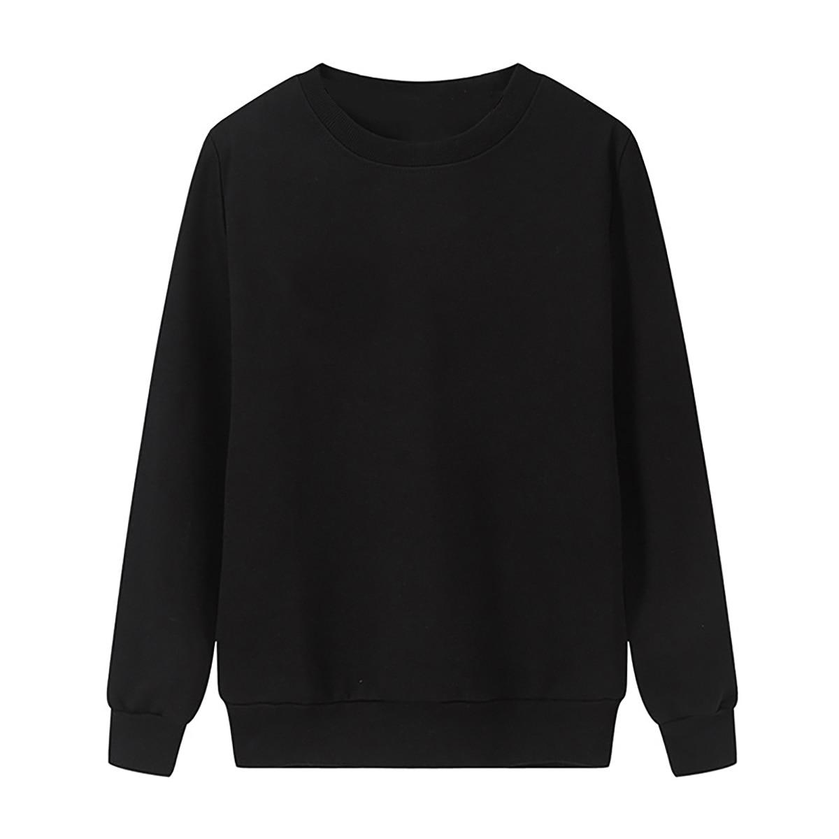 Solid Color Sweatshirt Women Casual Hoodie Fashion Winter Autumn Lasdies Pullover Fleece Black White Blue Red Gray Streetwear 7