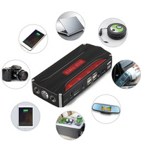 Newest 68000mAh 4USB 12V Car Jump Starter High Quality Power Bank Portable Mini For Emergency Start