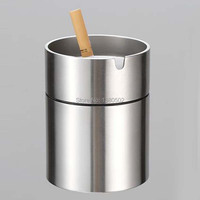 Hot Fashion Stainless Steel Metal Car Ashtray With Lids Lighters Smoking Tool Gift For Friend