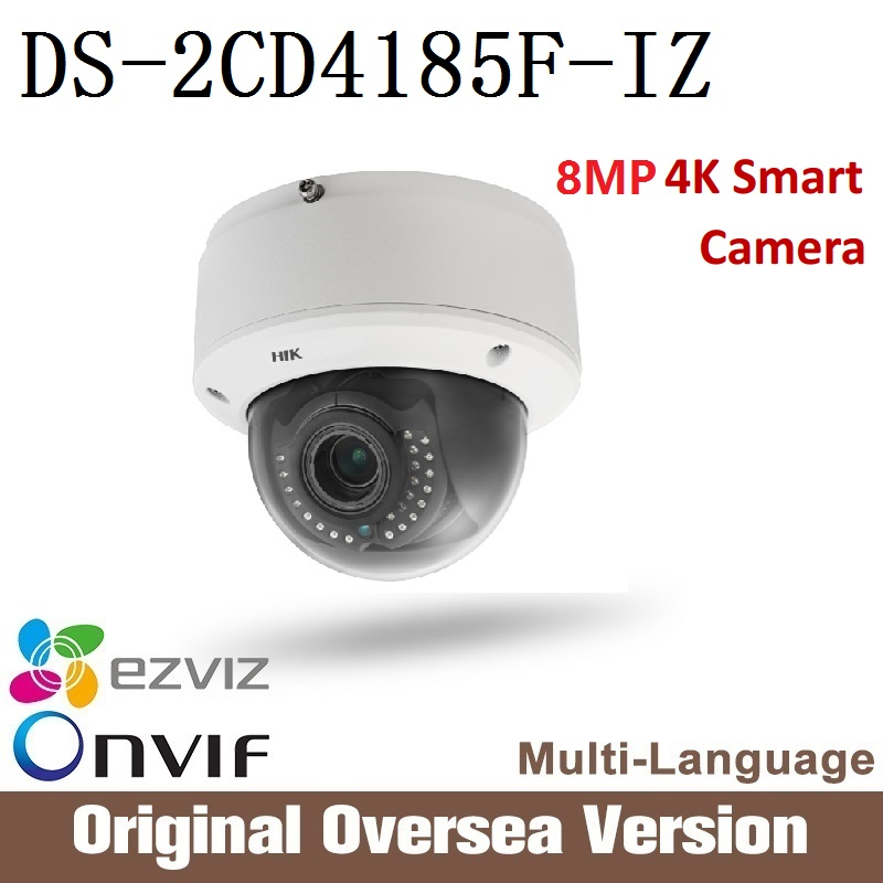 HIKVISION original English version 8MP DS-2CD4185F-I Ip Camera Poe Infrared Night Onvif Cmos CCTV security support upgrade hikvision ds 2cd2042wd i original english version 4mp ip camera support ezviz upgrade poe infrared 30m outdoor waterproof