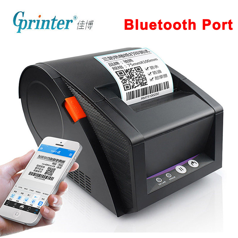 Gprinter Bluetooth Label Printer Thermal Receipt Barcode Printer 20mm to 80mm Sticker Paper For Android iOS Mobile Phone