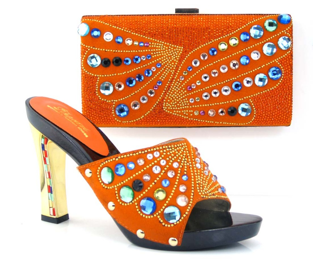 Hot Selling African Women Shoes And Bags Set!High Quality Italian Shoes And Matching Bags For Wedding!Q1-37