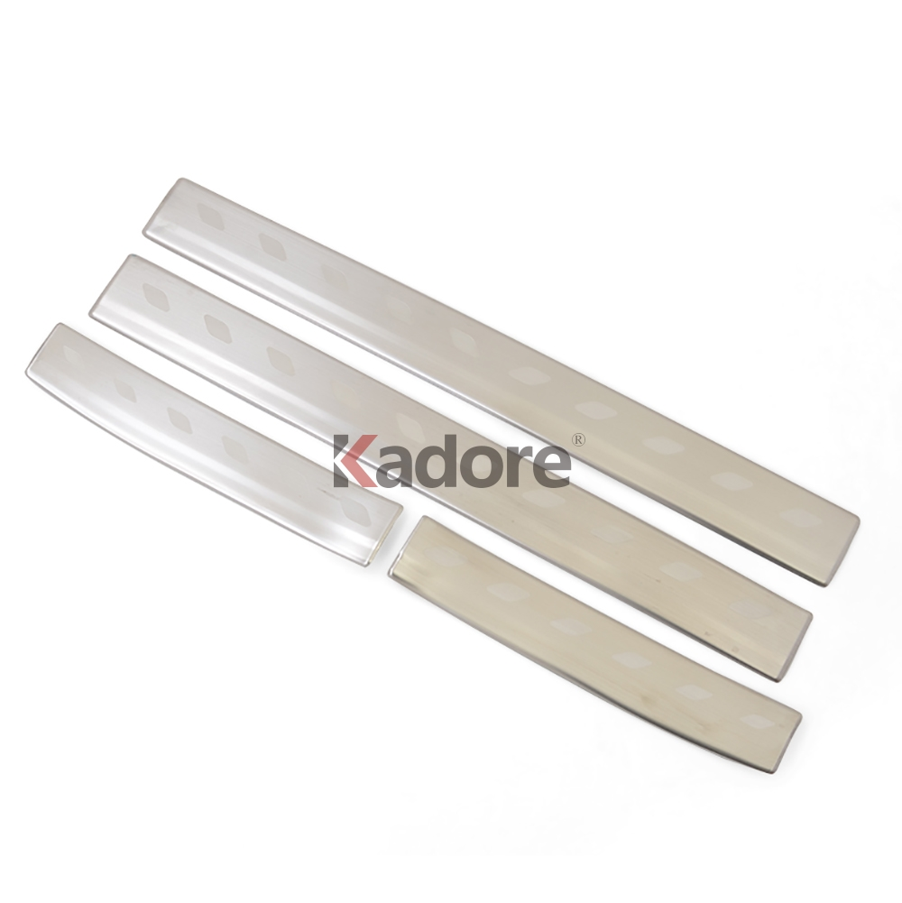 For Toyota YARIS VITZ 2017-18 N Stainless Door Sill Scuff Plate Thresholds Cover