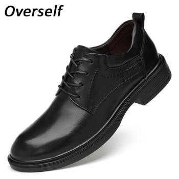 Genuine Leather Lace Up Oxford Shoes For Men Quality Business Men Crocodile Shoes Men's Dress Shoes Plus Big Size Wedding Shoes