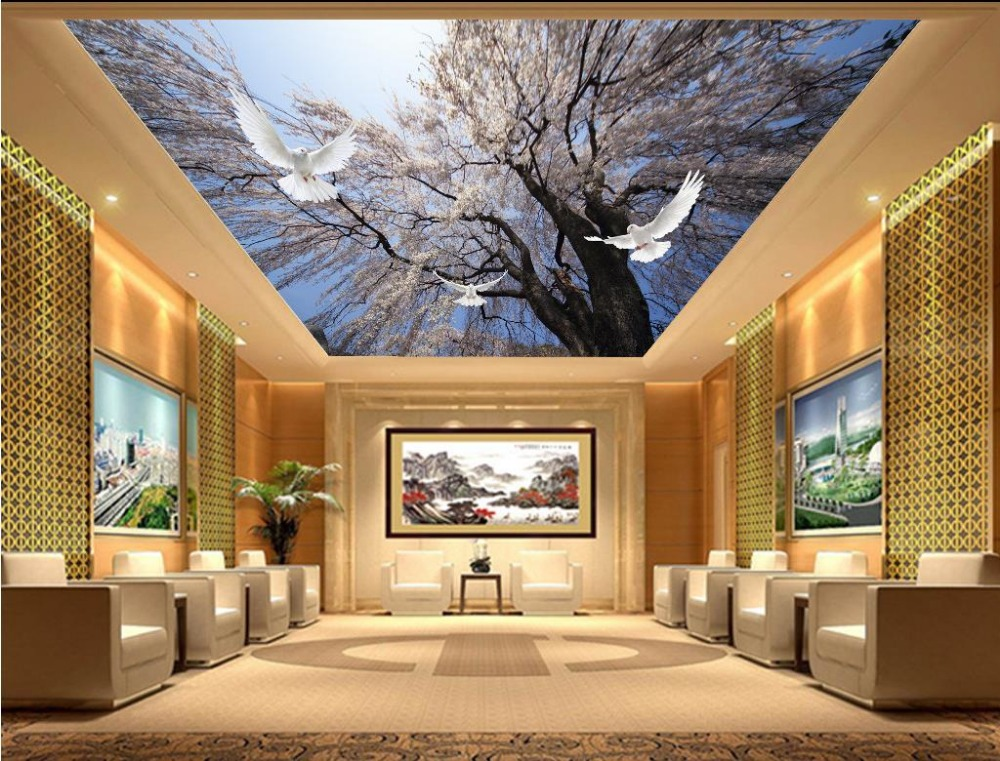 Buy custom 3d photo wall paper beautiful for 3d wallpaper home decoration