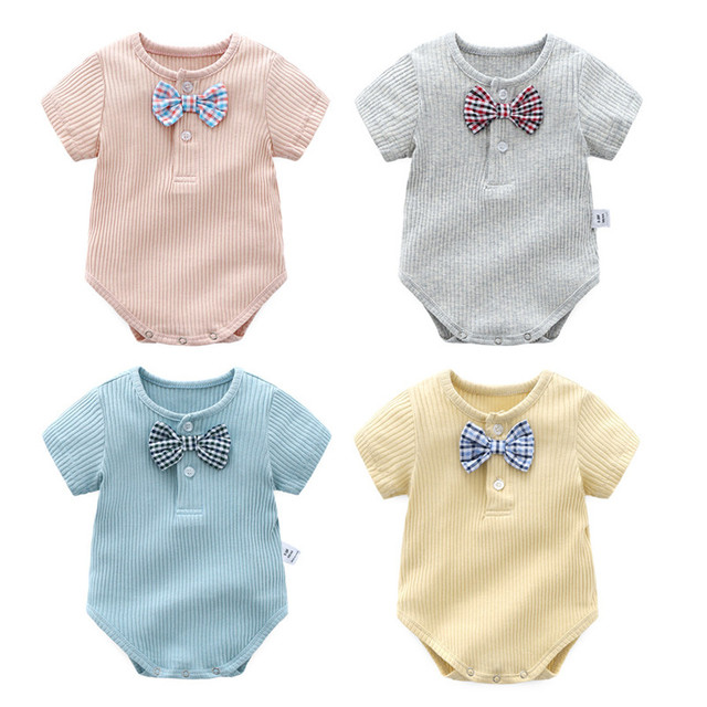 6cee3985d1fe 2018 Fashion Baby Boy Girl Clothes Summer Fine Cotton Playsuit Short ...
