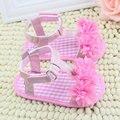 Baby Girl Floral Verão Berço Macio Sole Anti-slip Sapatos Princesa 0-18 M
