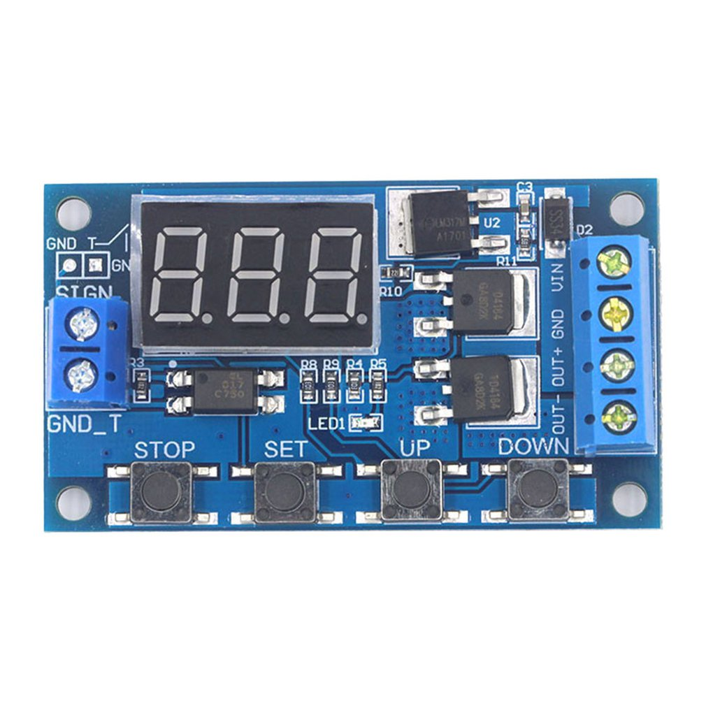 Dual MOS LED Digital Time Delay Relay Trigger Cycle Timer Delay Switch Circuit Board Timing Control Module
