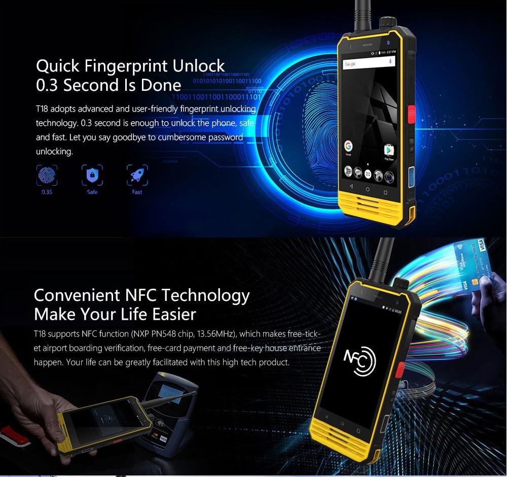 NOMU T18 OTG+NFC Android7 0 FDD LTE Quad Core 1 5GHz Dual
