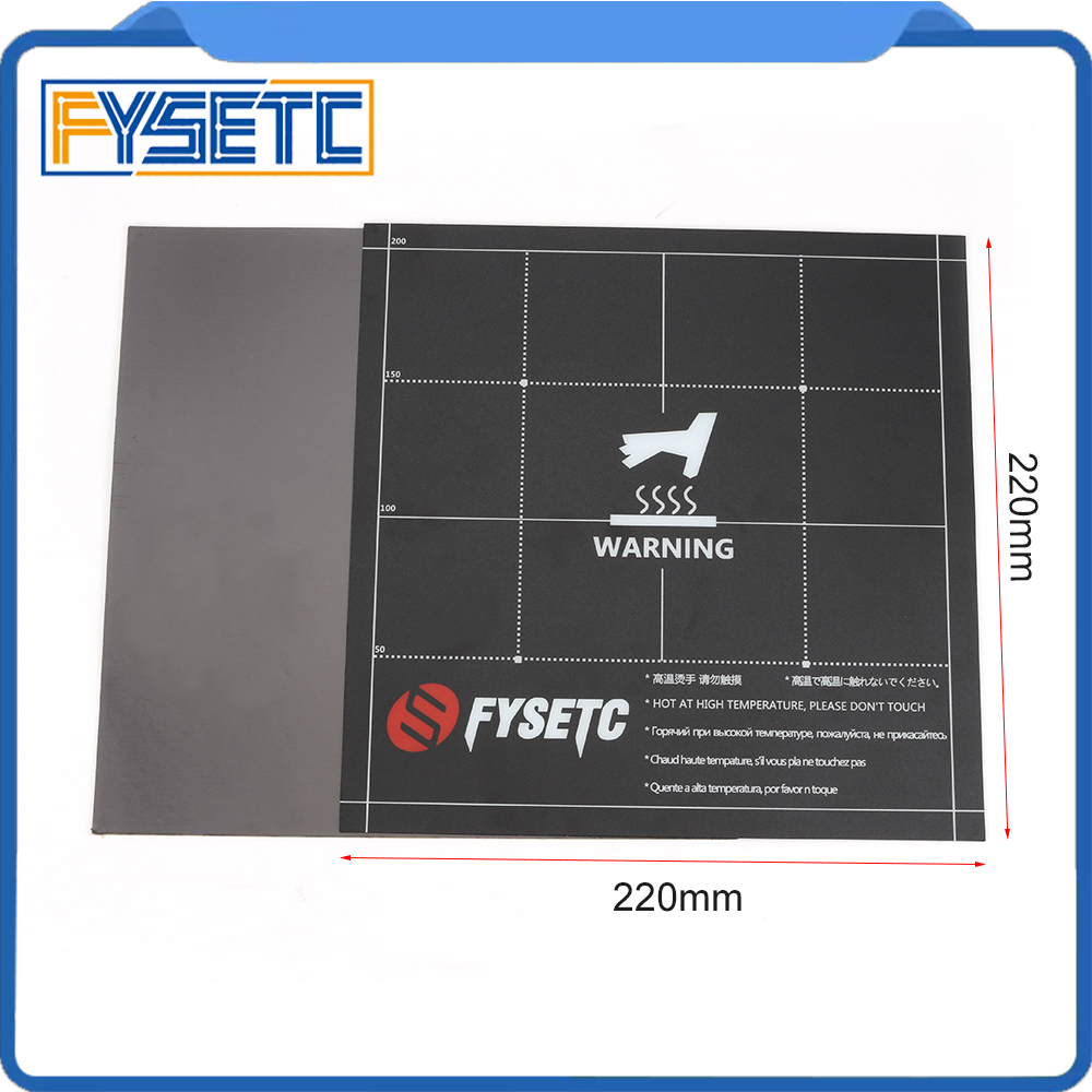 220x220mm Magnetic Heatbed Build Surface Plate Sheet 2 In 1 With 3M Adhesive Backing For Wanhao I3 Anet A8 A6 Ender-3
