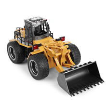 HuiNa1520 RC Car 6CH 1/14 Trucks Metal Bulldozer Charging RTR Remote Control Truck Construction Vehicle Cars For Kids Toys Gifts