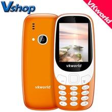 Оригинальный vkworld Z3310 3D Экран 2.4 дюймов старший Móviles громкий Динамик fm Radios свет 2MP Камера Dual Sim сотовый телефон