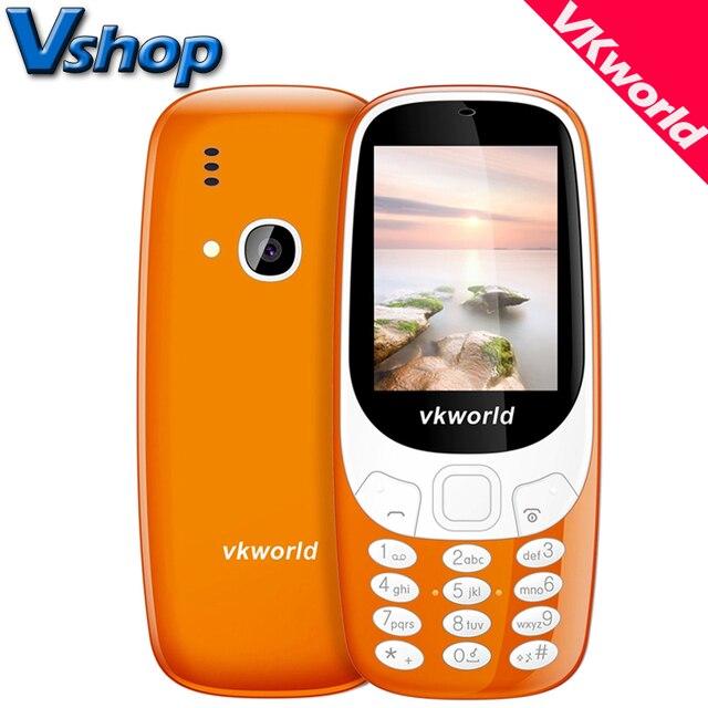 Оригинальный vkworld Z3310 3D Экран 2.4 inch старейшина мобильных телефонов громкий Динамик FM радио светодиодные 2MP Камера Dual SIM сотовый телефон