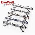 Nova chegada metade aro de metal frame ótico com dobradiça de mola confortável vestindo hotsale alta qualidade armação de óculos para homens 2016