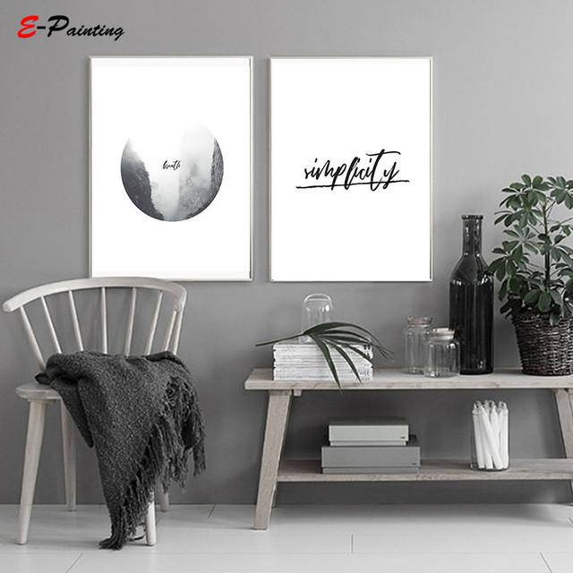 Modern Canvas Painting Abstract Digital Art Poster Home Decor Black And White Wall Poster Living Room Decor Painting No Frame