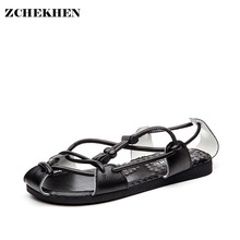 Men Leather Slippers Casual Flats font b Sandals b font Fashion Buckle Summer Beach Shoes Leather