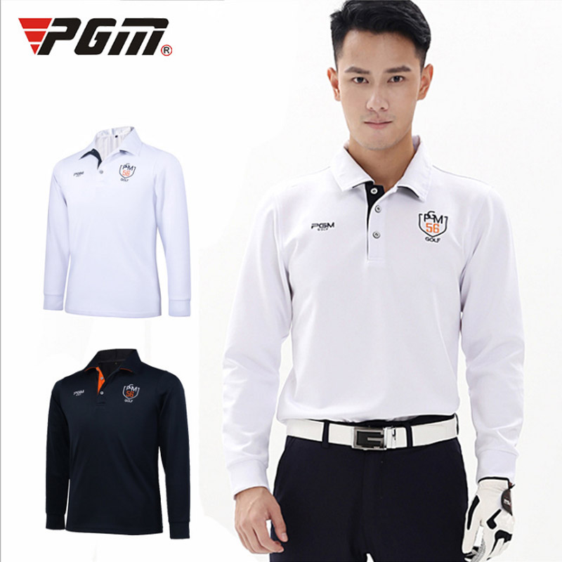 Have logo Full sleeve Shirt soft Sport Golf Jerseys for men Autumn Spring Winter jacket Turn-down Collar Breathable white XXL