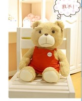 Thú nhồi bông đáng yêu ted gấu plush toy 60 cm tạp dề màu đỏ gấu bông búp bê khoảng 23 inch đồ chơi p1844